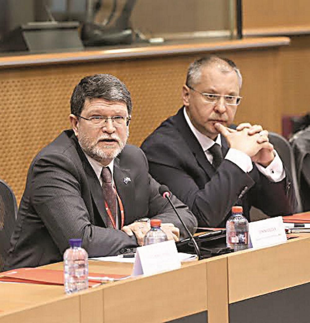SERGEJ STANIŠEV KAO GOST TONINA PICULE NA KONFERENCIJI U BRUXELLESU POVODOM 120 GODINA HRVATSKE SOCIJALDEMOKRACIJEFo FOTO: URED TONINA PICULE/EUROPSKI PARLAMENT