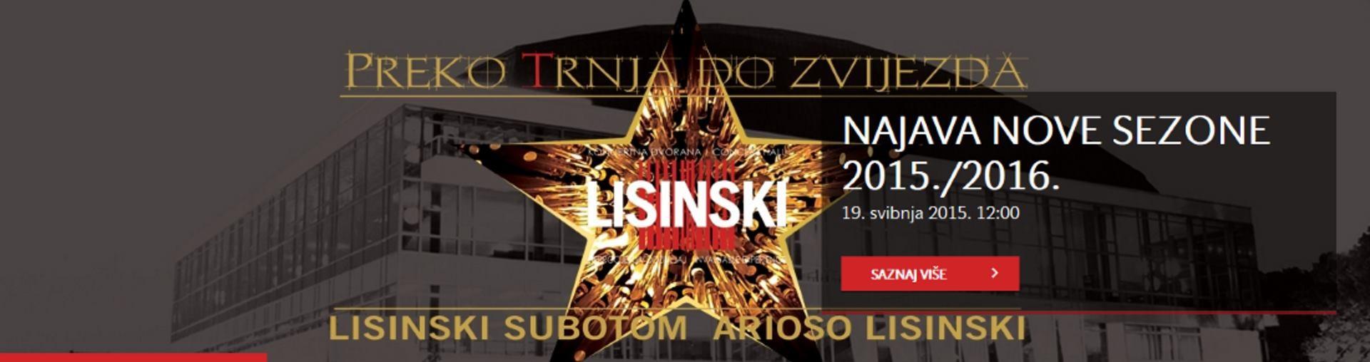 KD LISINSKI Dođite na koncerte u sklopu programa Lisinski Arioso
