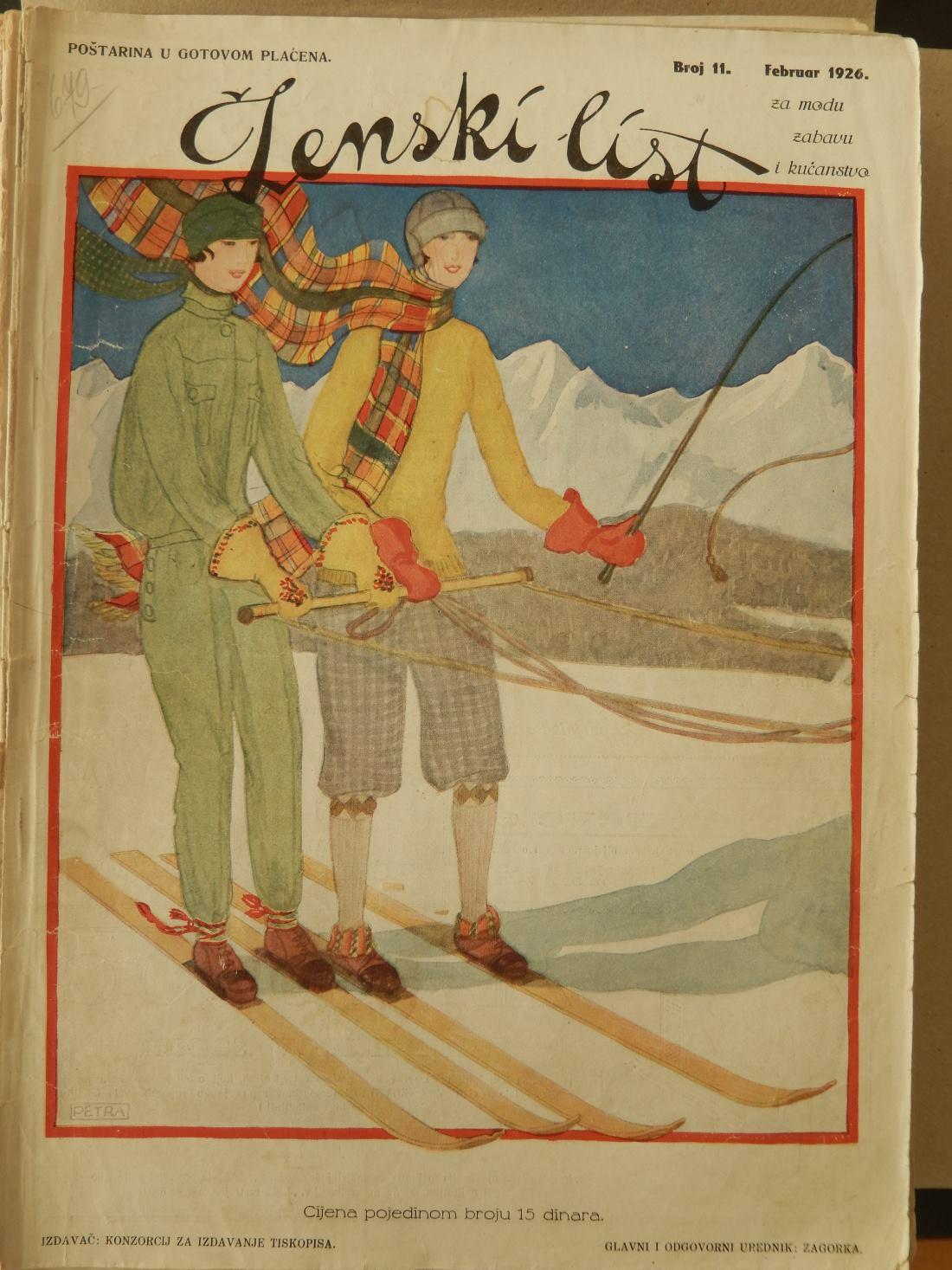 Na stranicama ilustriranih časopisa krajem 1920-ih nalaze se žene koje igraju tenis, rukomet, skijaju ili se čak bave streljaštvom, a Ženski list vrlo rano uvodi i kolumnu 'Gimnastika' FOTO: Nacional