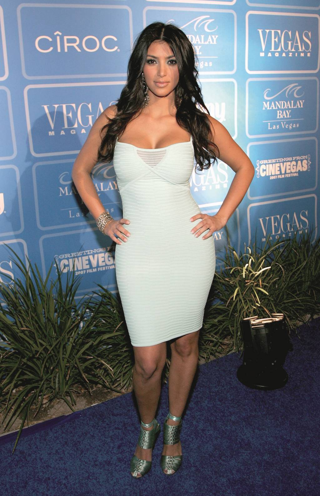 """LAS VEGAS - JUNE 16:  Socialite Kim Kardashian arrives at the fourth anniversary party for """"Vegas Magazine"""" on the closing night of the CineVegas film festival at the Mandalay Bay Resort & Casino June 16, 2007 in Las Vegas, Nevada.  (Photo by Ethan Miller/Getty Images for CineVegas) *** Local Caption *** Kim Kardashian"""