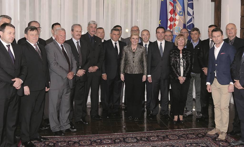 22.05.2015., Zagreb - U Uredu predsjednice odrzana je prva sjednica Vijeca za domovinsku sigurnost. Photo: Zeljko Lukunic/PIXSELL