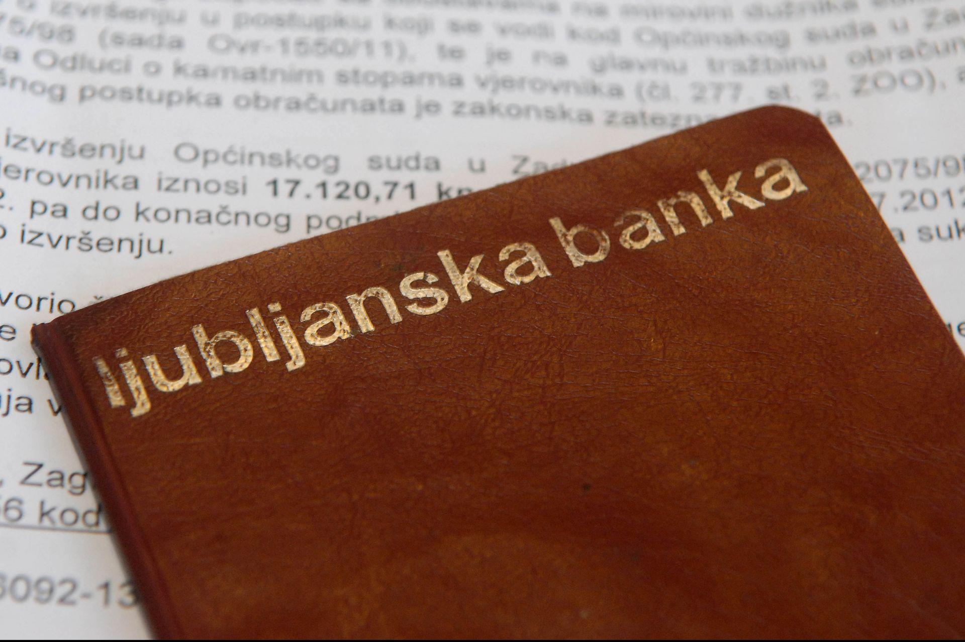LJUBLJANSKA BANKA: Jedan od motiva tužbe protiv Hrvatske možda je i traženje nagodbe