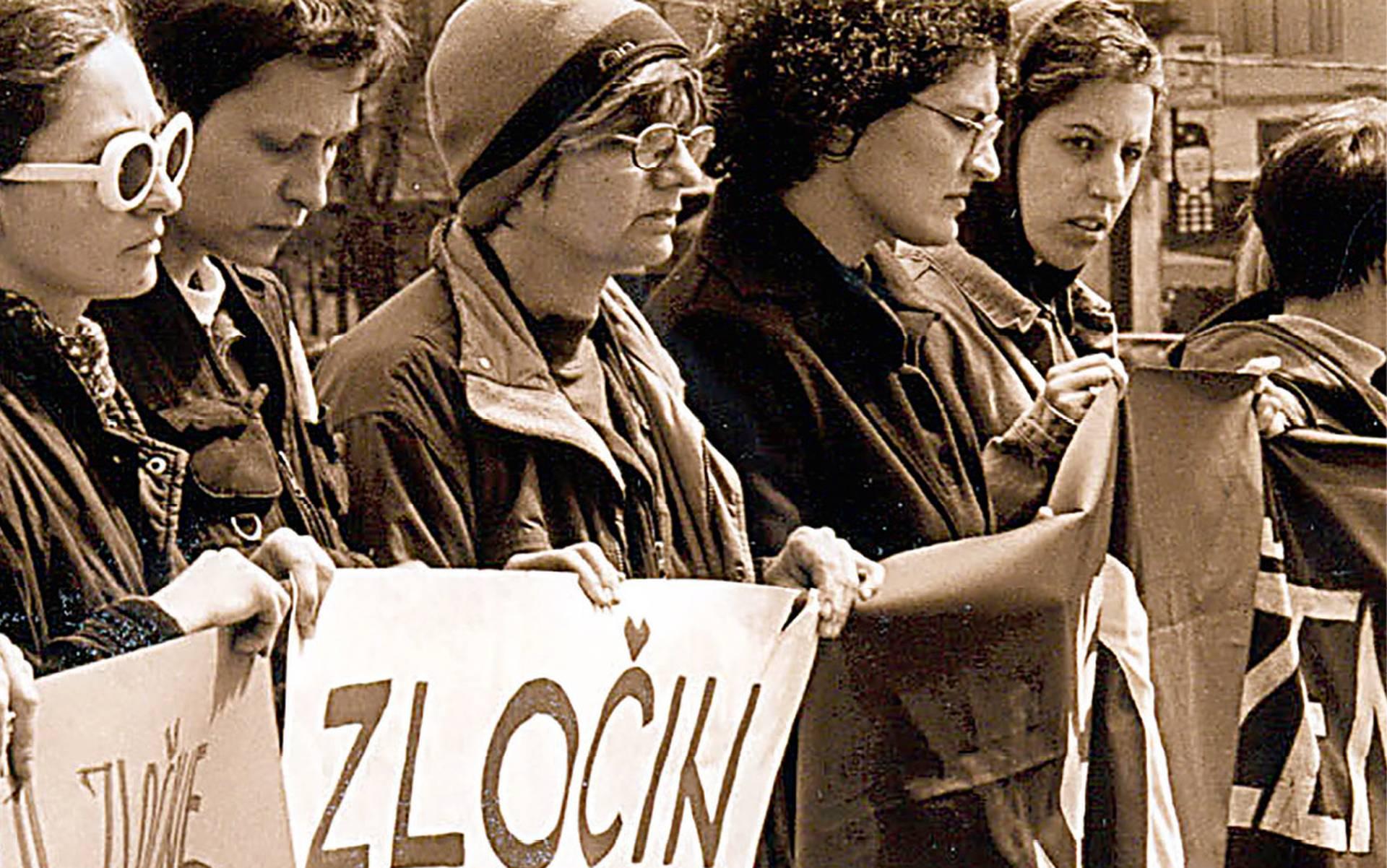 FELJTON Antiratne pozicije zagrebačkih i beogradskih feministkinja