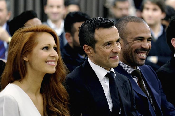 Jorge Mendes sa suprugom Sandrom s kojom ima troje djece, a dvoje ima iz prethodnog braka