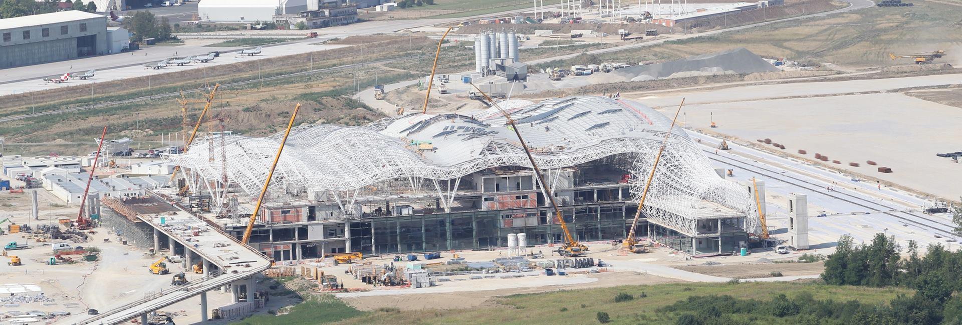 FOTO: Pogledajte kako napreduje gradnja Međunarodne zračne luke Zagreb