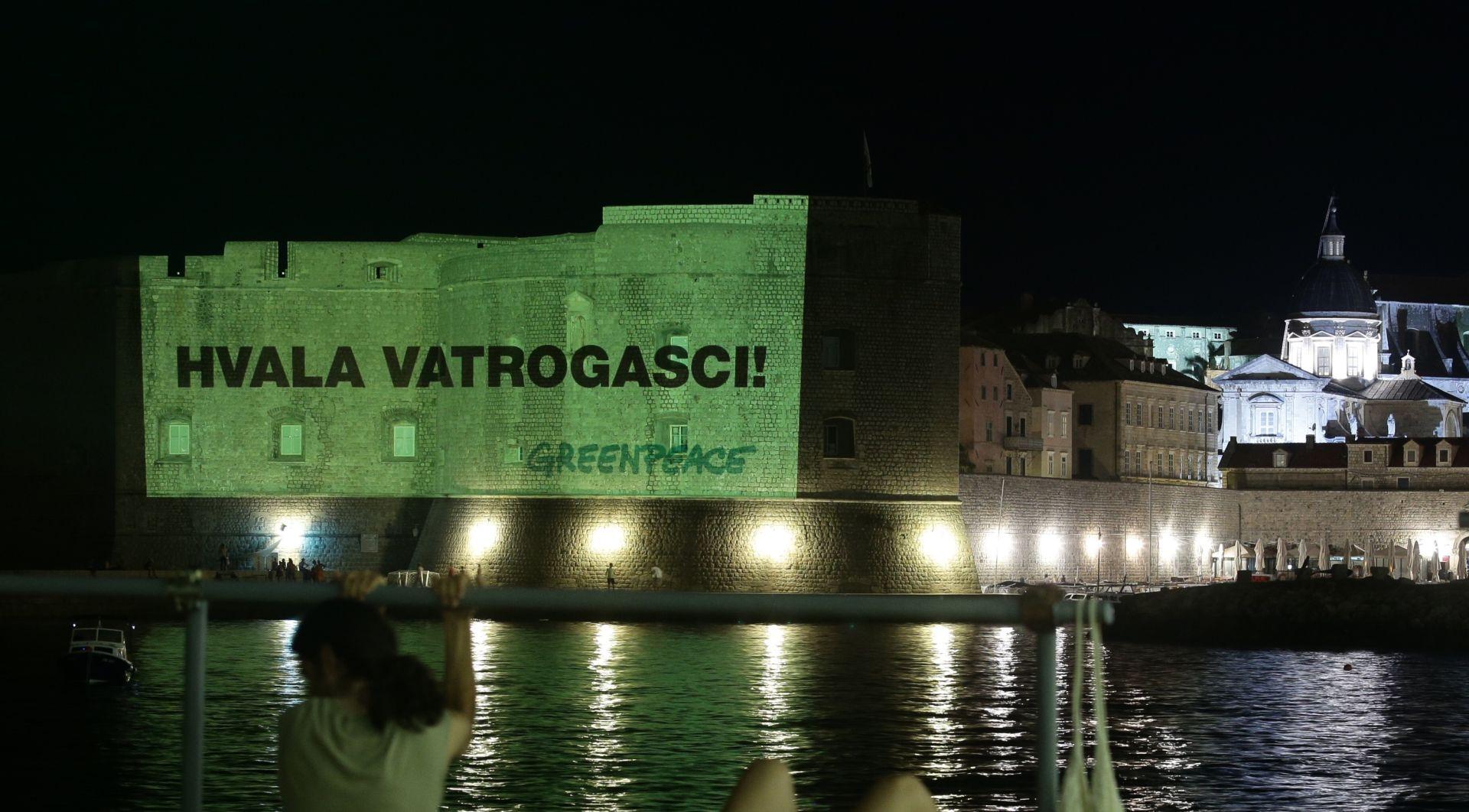 FOTO: ZAHVALA VATROGASCIMA Greenpeace iz Dubrovnika pozvao Vladu da ne potpisuje ugovore s naftnim kompanijama