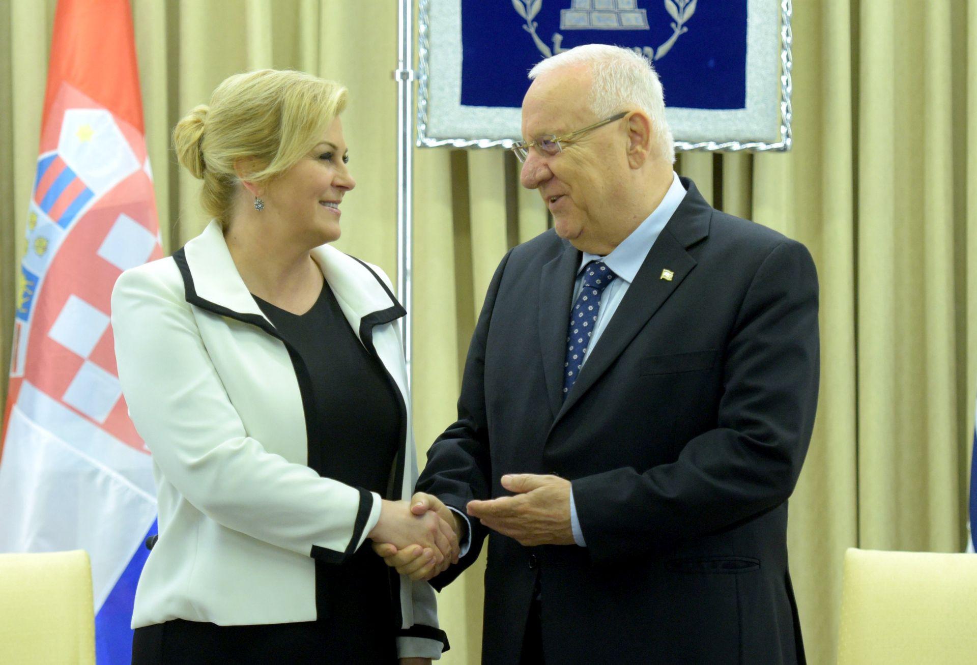 Grabar-Kitarović: Nadam se da će Izrael i Palestina pregovarati o mirnom rješenju