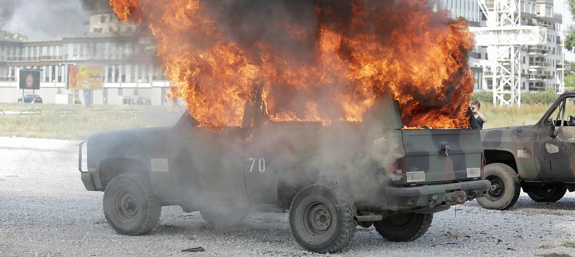 Vatreni filmski set Luca Bessona budim okom pazili zagrebački vatrogasci