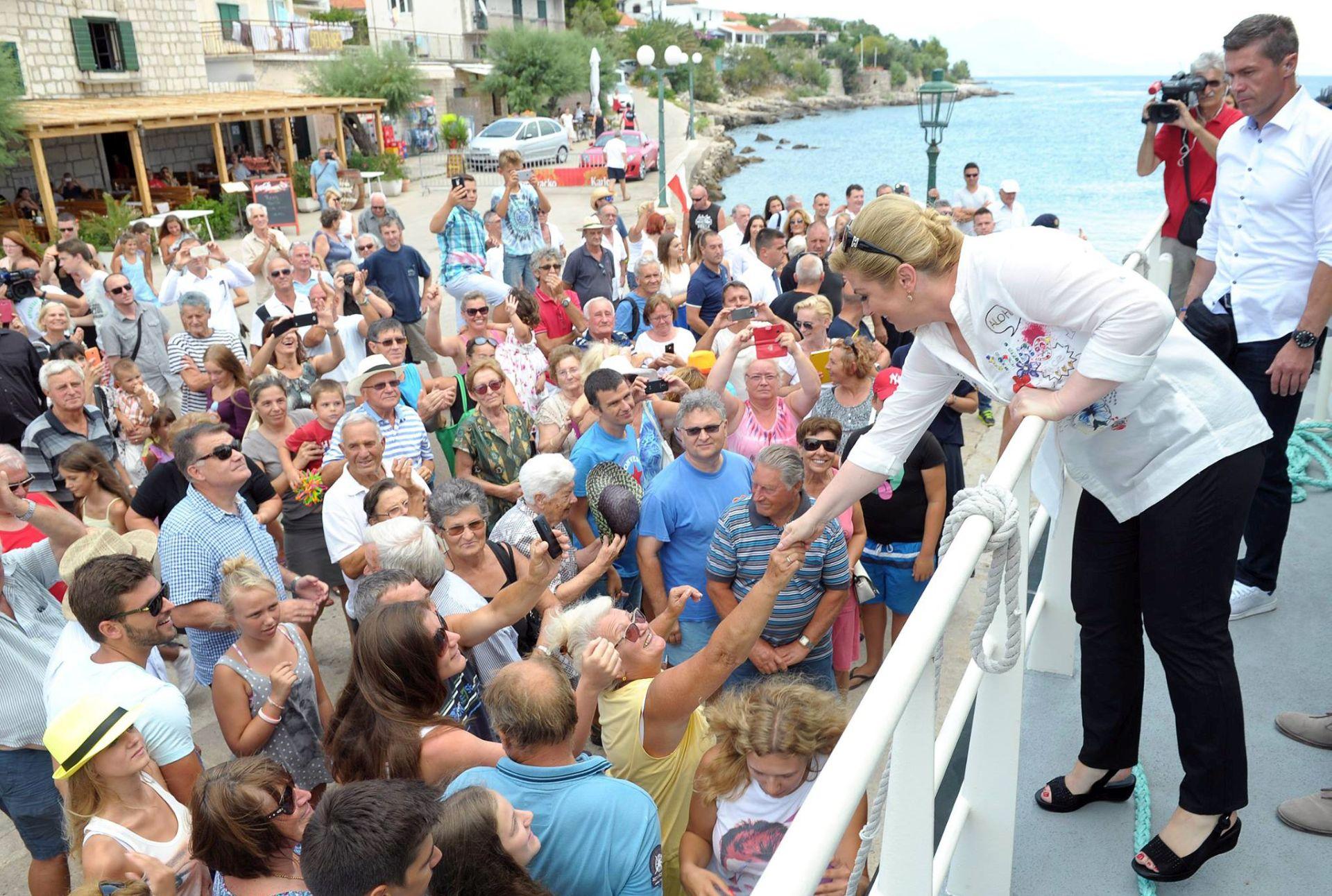 FOTO: Predsjednica Republike posjetila Hvar, Korčulu i Pelješac