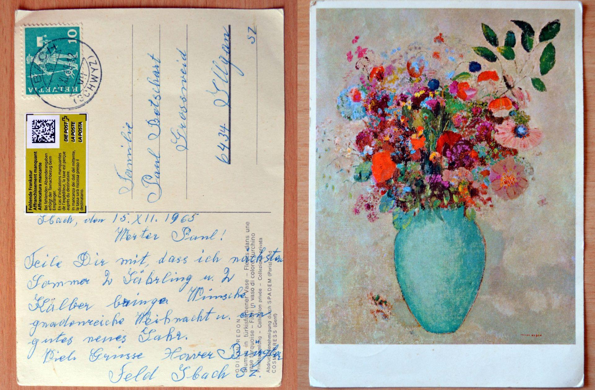 Švicarskoj pošti trebalo pedeset godina da isporuči čestitku