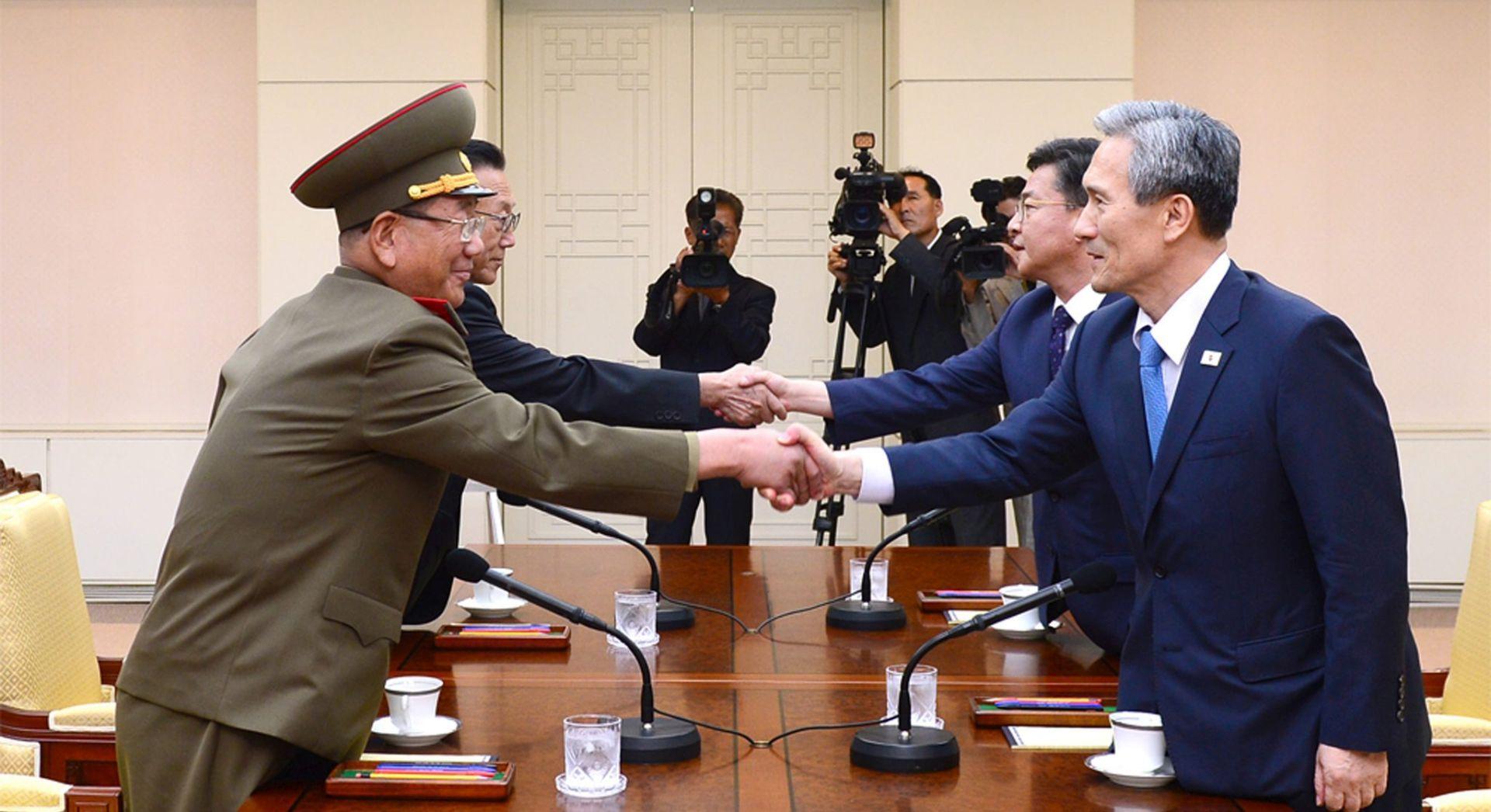 Sjeverna i Južna Koreja pregovaraju o smanjenju napetosti
