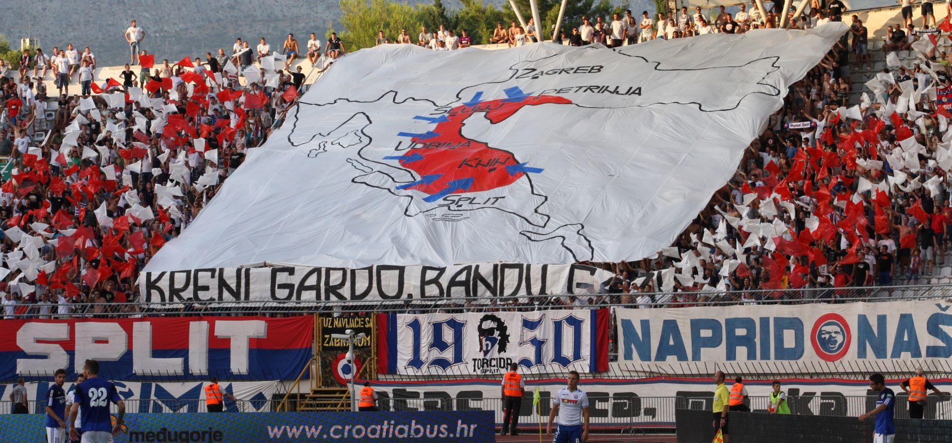 'ČESTITKA' UEFA-E Hajduk kažnjen zbog transparenta 'Oluje', ali ne zbog rasizma