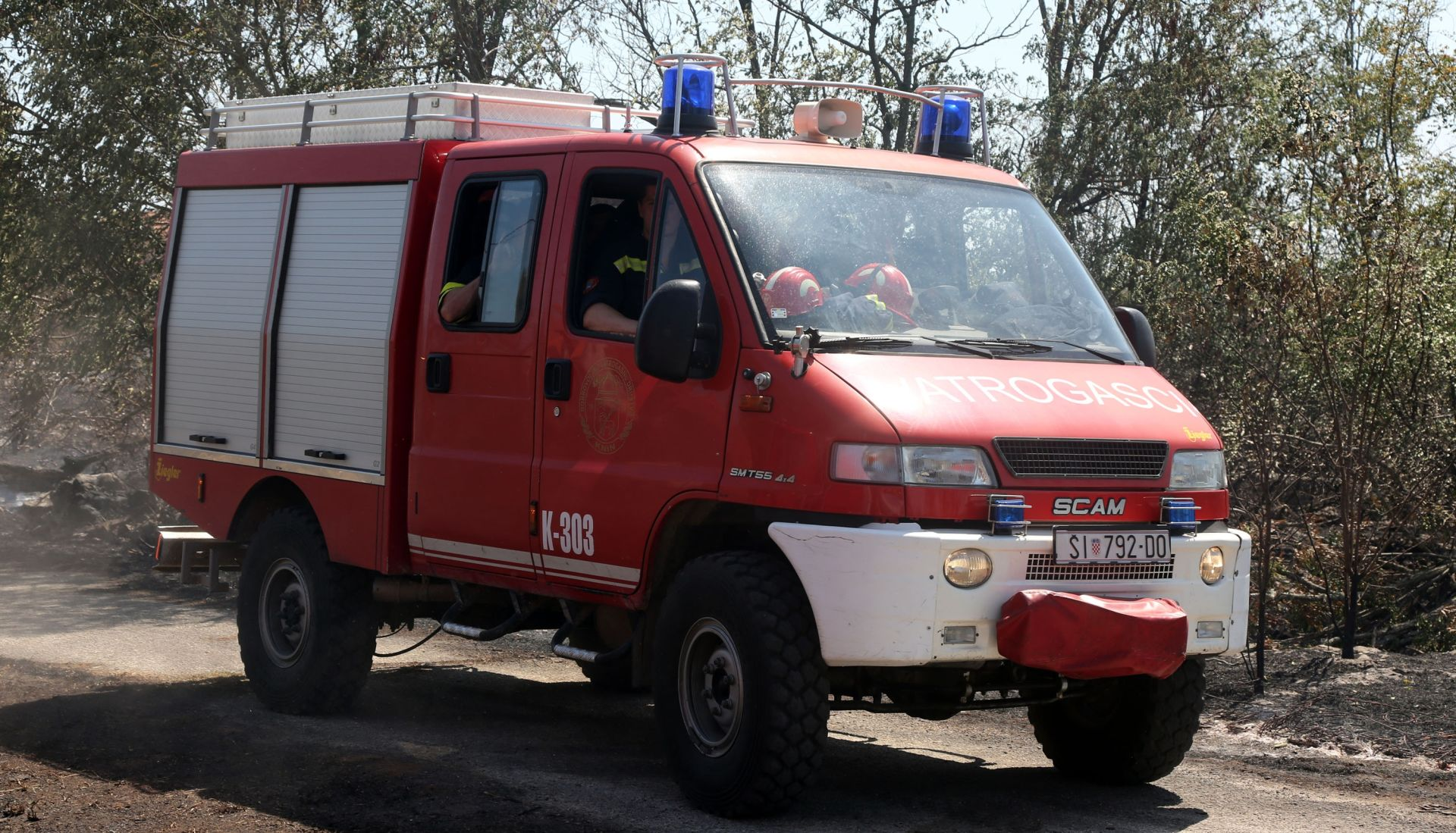 UGASILI GA MJEŠANI Dvije osobe ozlijeđene u požaru kuće kod Šibenika