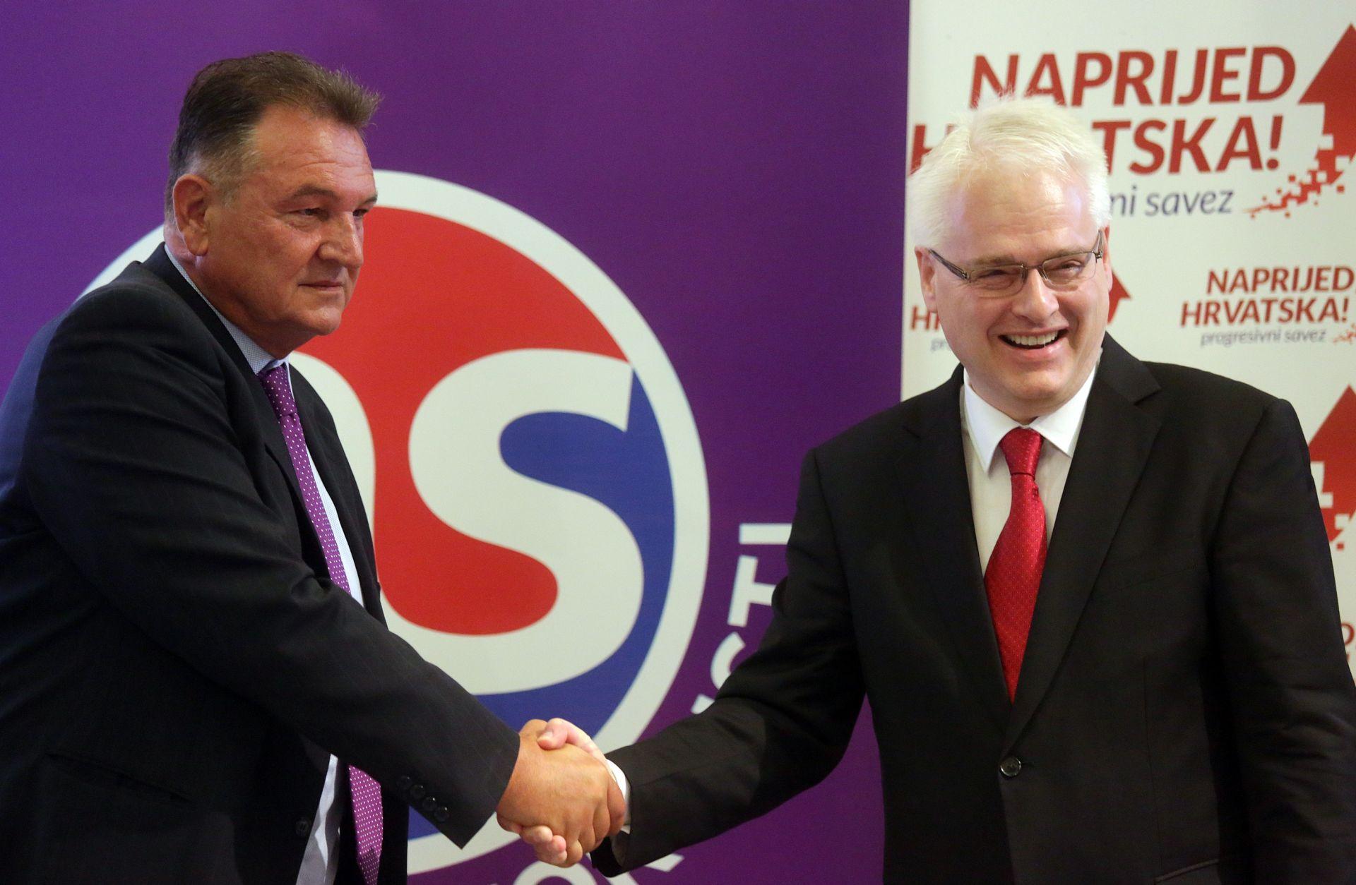 """FOTO: Josipović i Čačić osnovali koaliciju """"Uspješna Hrvatska"""""""