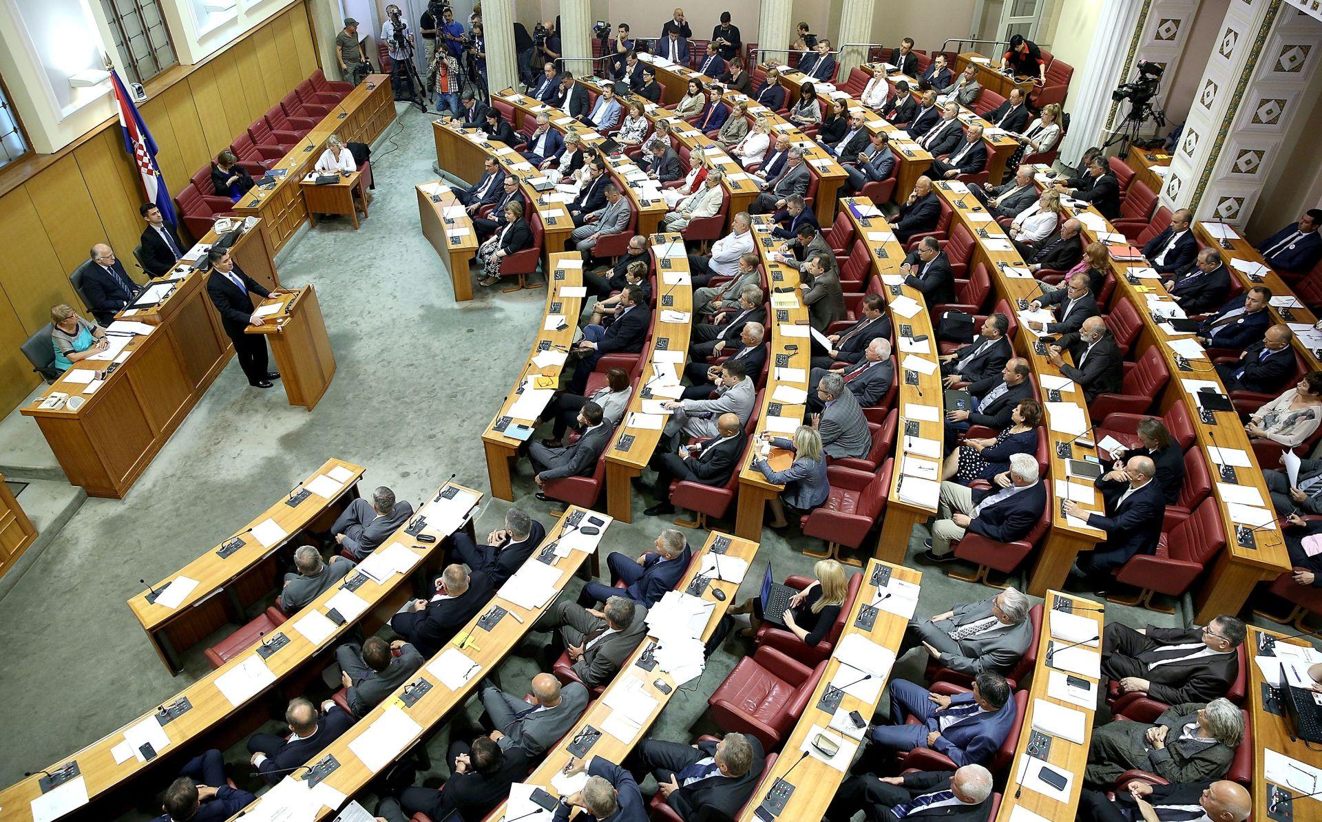 SABOR RH: Zahtjevi za mirovanjima mandata