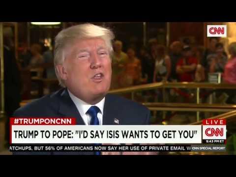 """VIDEO: Trump: """"Ako bi govorio protiv kapitalizma, papi bih rekao da ga ISIS želi srediti"""""""