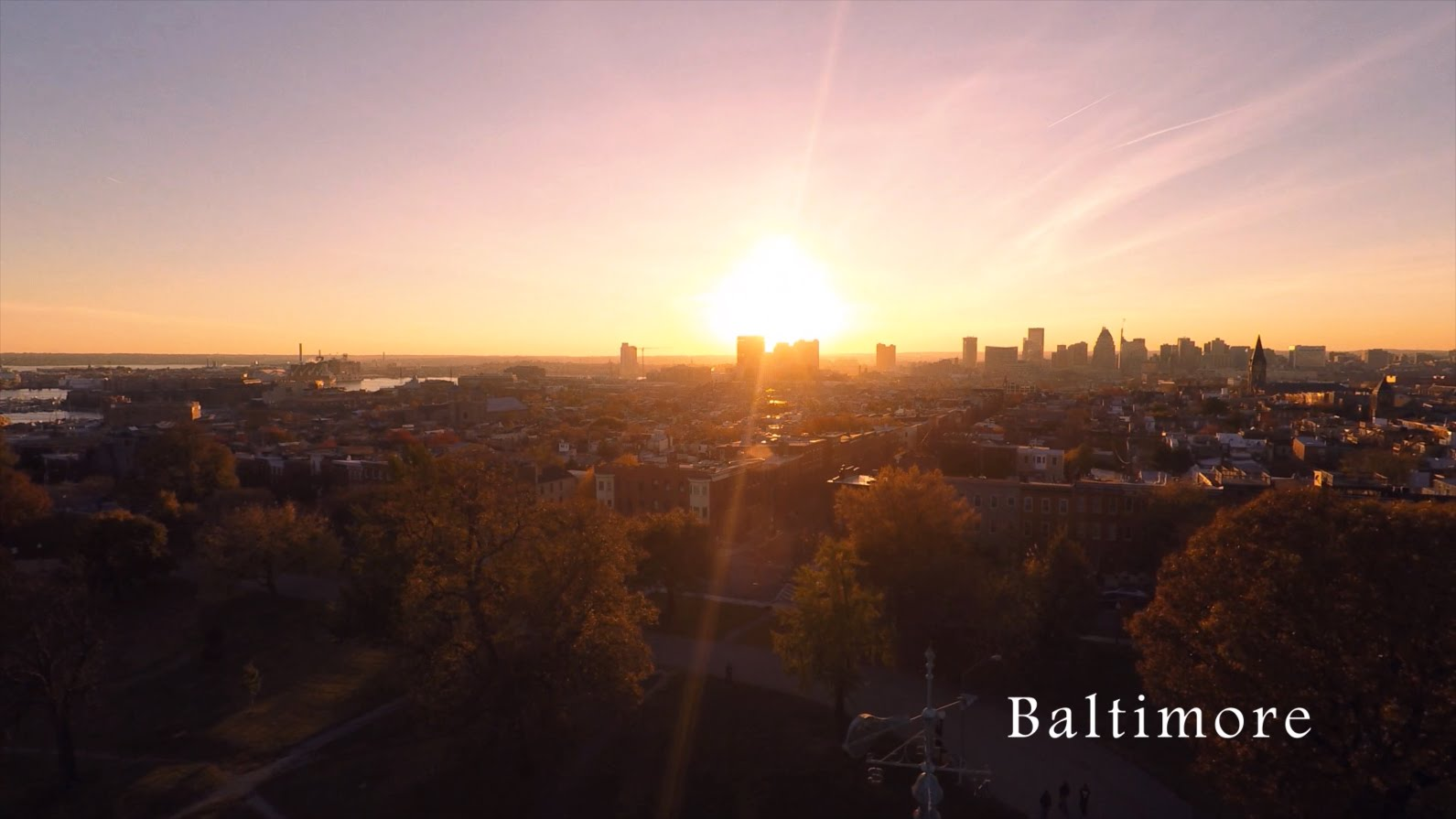VIDEO: Pogledajmo grad Baltimore iz zraka (4K)