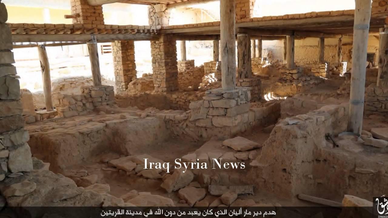 VIDEO: BULDOŽERIMA NA KRŠĆANSKI SAMOSTAN Islamska država uništila Mar Elian, zarobljene odveli u Raqqu