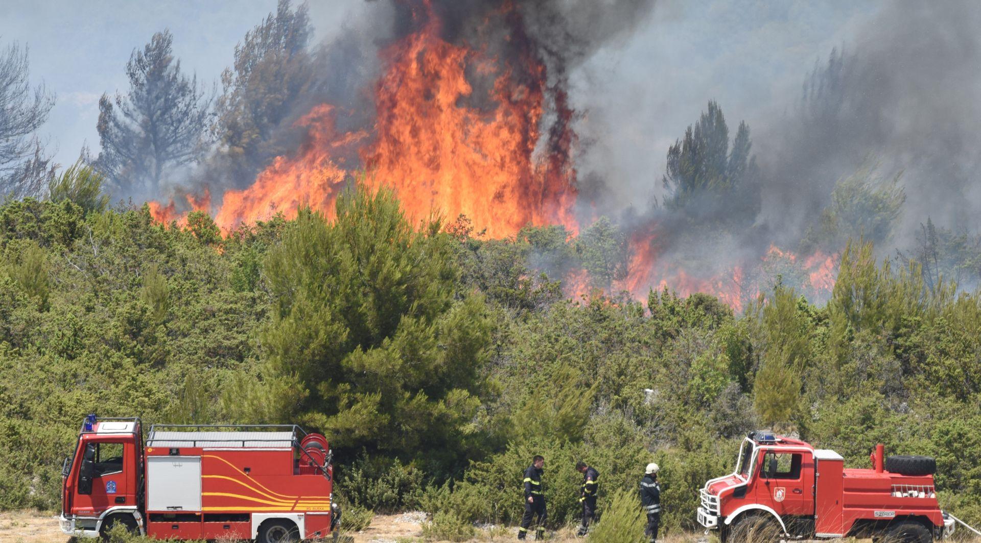 NEMA ODMORA ZA VATROGASCE: Požar kod Marčane u Istri