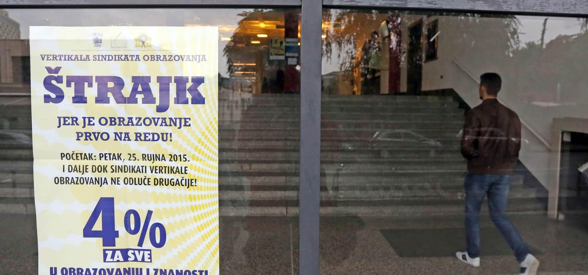 NEMA DOGOVORA: Nastavlja se štrajk u školama i na fakultetima