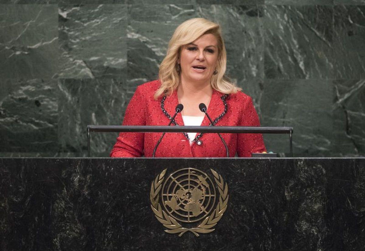 GOVOR PREDSJEDNICE U UN-U Grabar-Kitarović pozvala na solidarnost, dijalog i obrazovanje