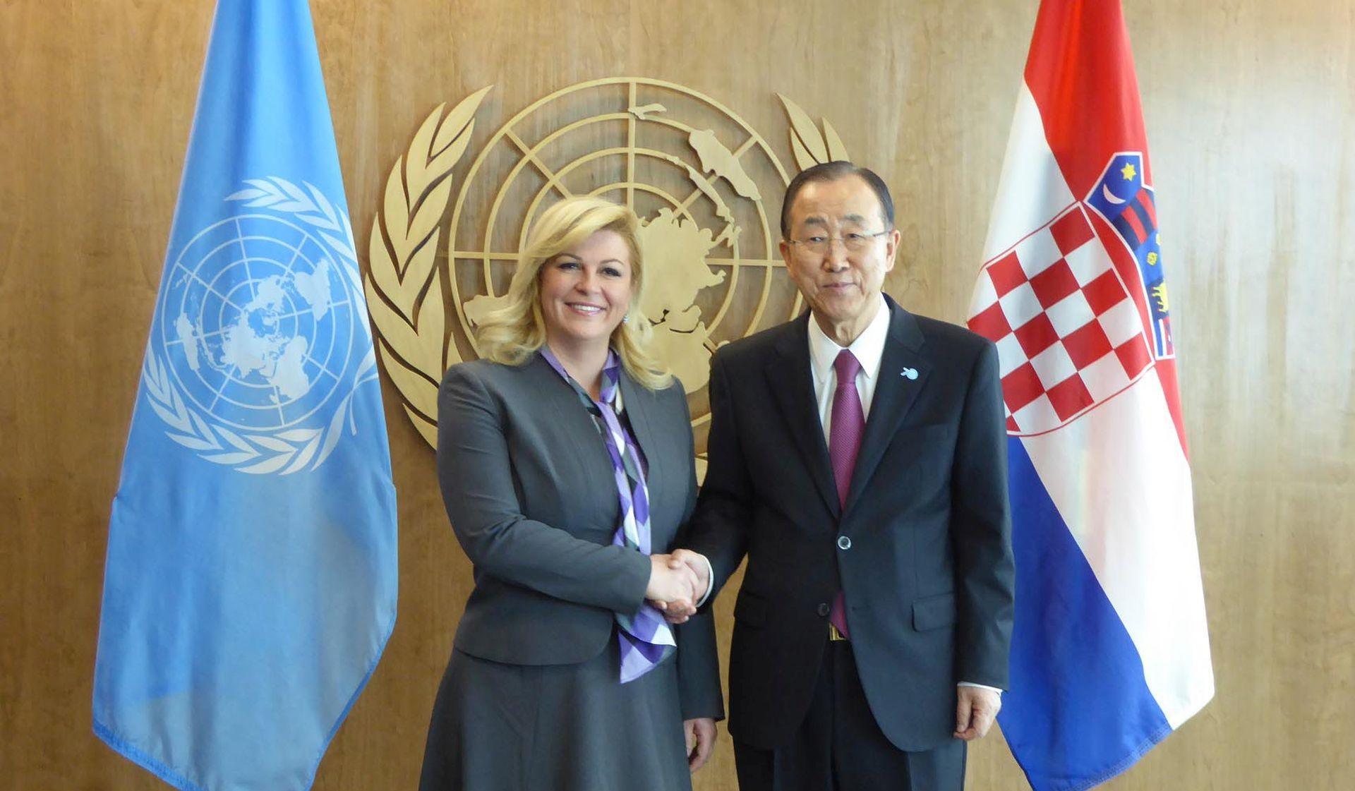 Grabar-Kitarović razgovarala s Ban Ki-moonom o migrantskoj krizi