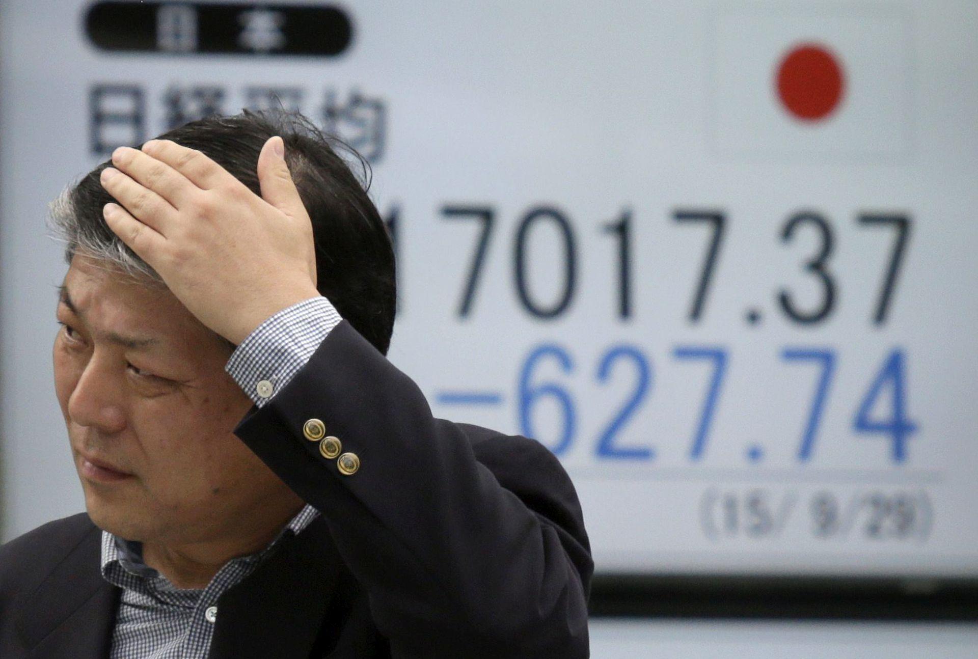 SVJETSKA TRŽIŠTA: Azijske burze pale na najniže razine od 2012.