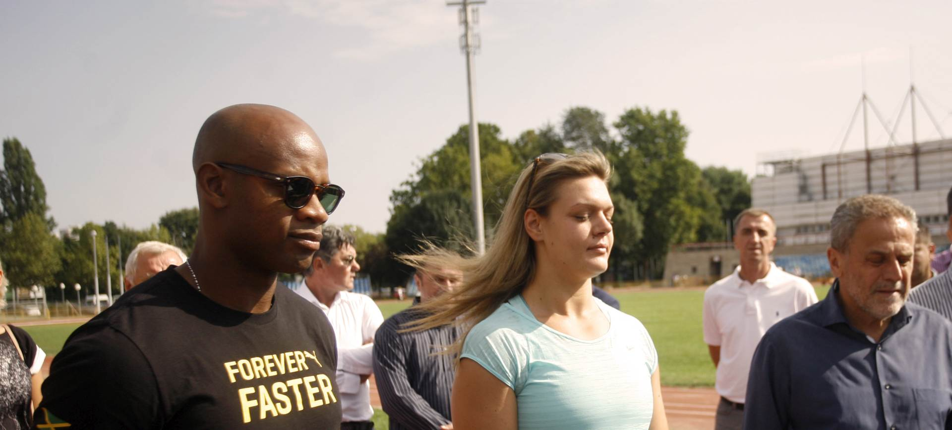 HANŽEK: Sandra Perković i Asafa Powell obišli stadion Mladosti