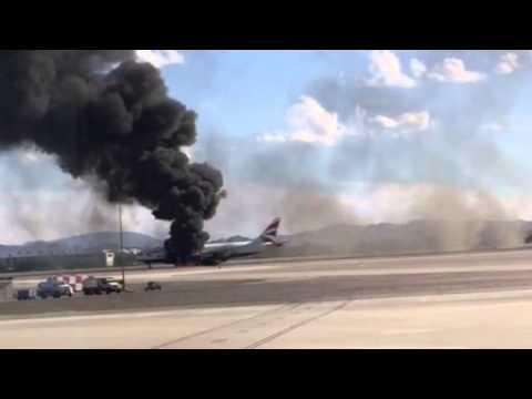 VIDEO: Spektakularna evakuacija gorućeg aviona u Las Vegasu