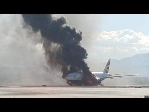 VIDEO: BOEING SE ZAPALIO PRIJE POLIJETANJA Evakuiran zrakoplov British Airwaysa u Las Vegasu