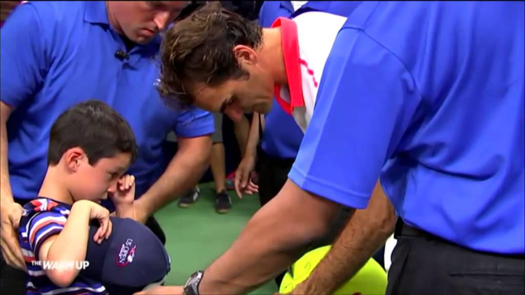 VIDEO: PRAVI GOSPODIN Federer spasio uplakanog dječaka iz gužve na US Openu
