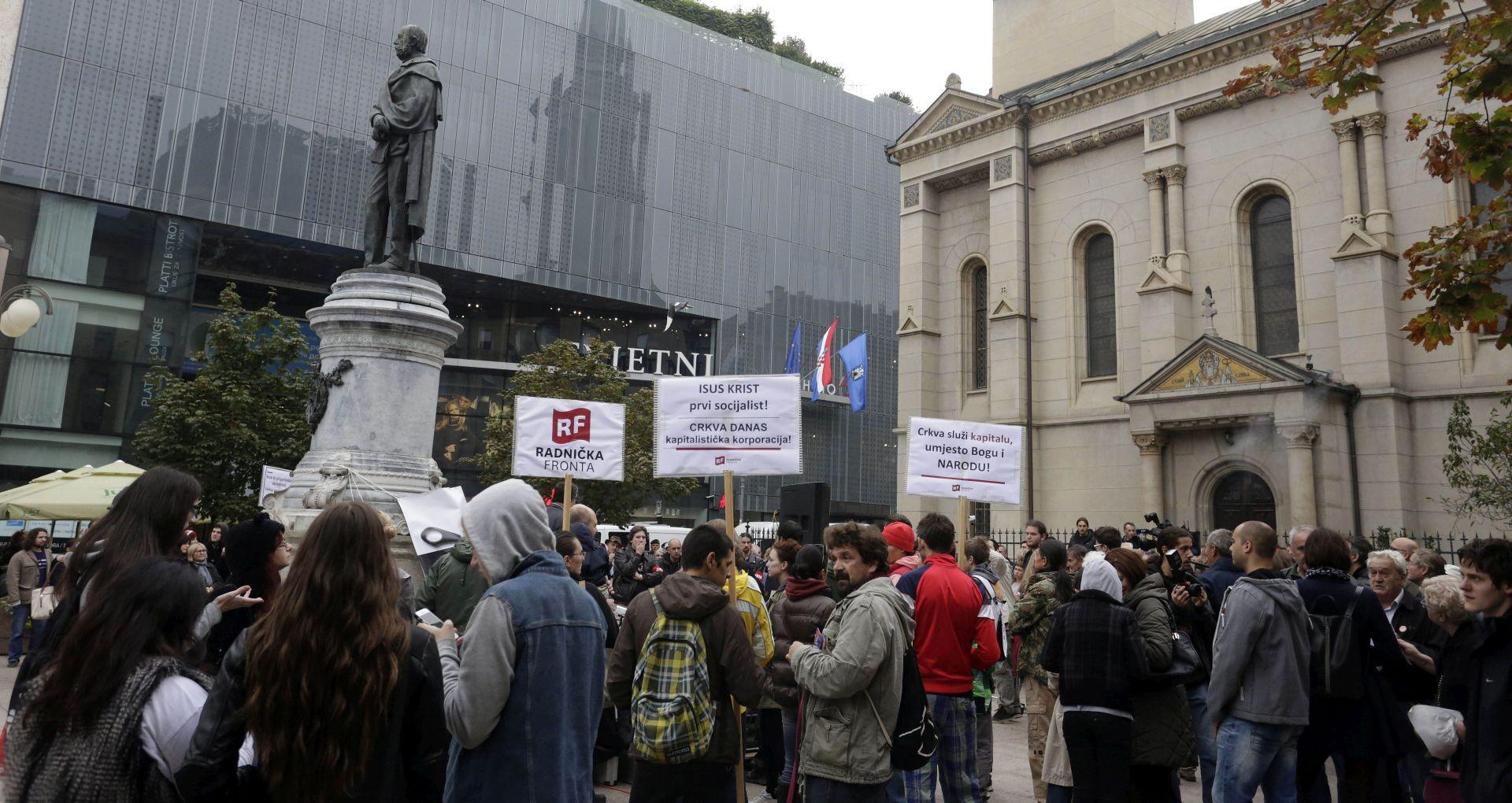 Stotinjak građana prosvjedovalo protiv Vatikanskih ugovora