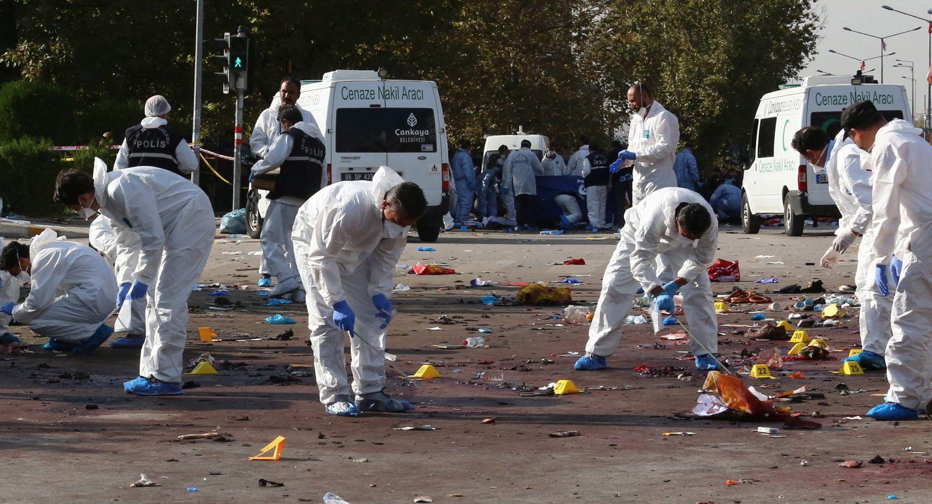 NAJSMRTONOSNIJI TERORISTIČKI NAPAD U TURSKOJ POVIJESTI Broj mrtvih u Ankari popeo se na 95, u bolnicama još 246 ozlijeđenih
