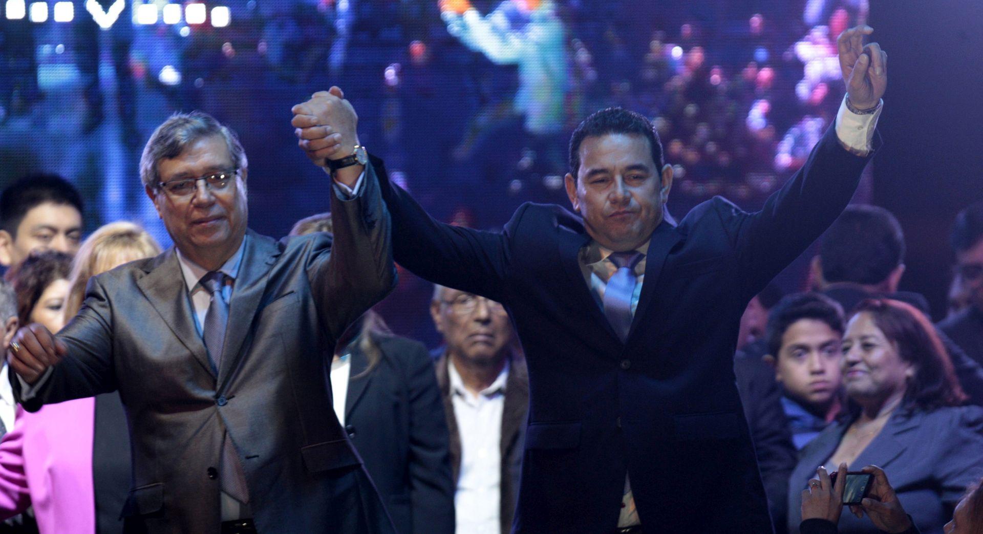 GVATEMALA Novi predsjednik je bivši komičar bez ikakvog političkog iskustva