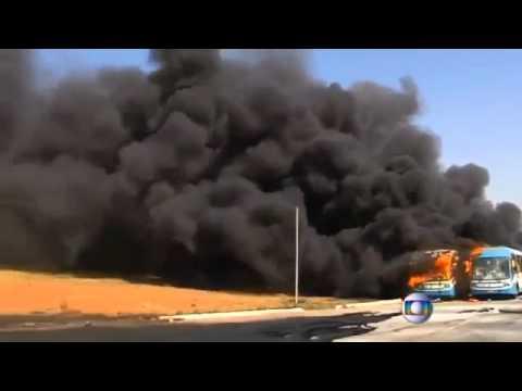 VIDEO: Izgrednici zapalili više autobusa u Brazilu