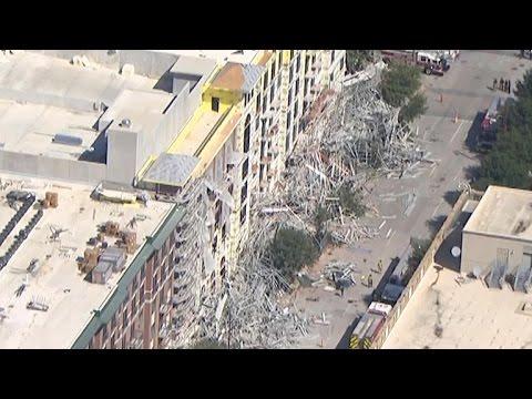 VIDEO: OPASNOST OD SEKUNDARNOG URUŠAVANJA Velika skela srušila se u Houstonu, šest ozlijeđenih
