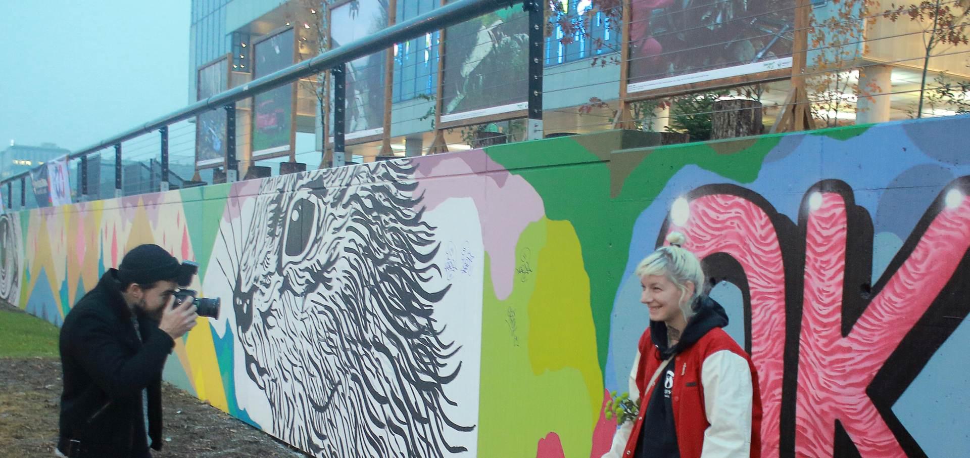 MSU predstavio novi mural umjetnice OKO