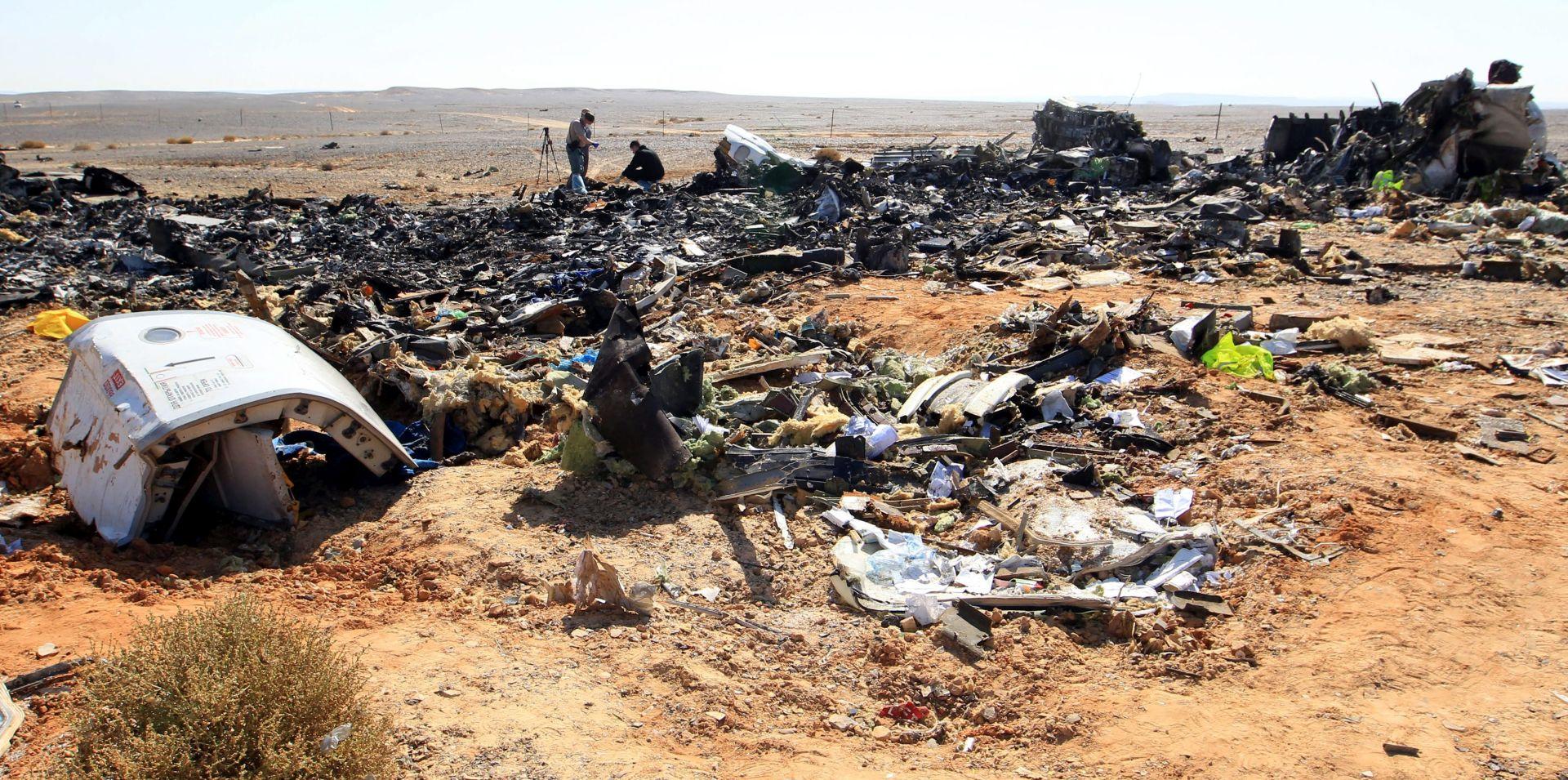 """Ruski premijer dopustio mogućnost """"terorističkog čina"""" kao uzroka pada ruskog zrakoplova u Egiptu"""