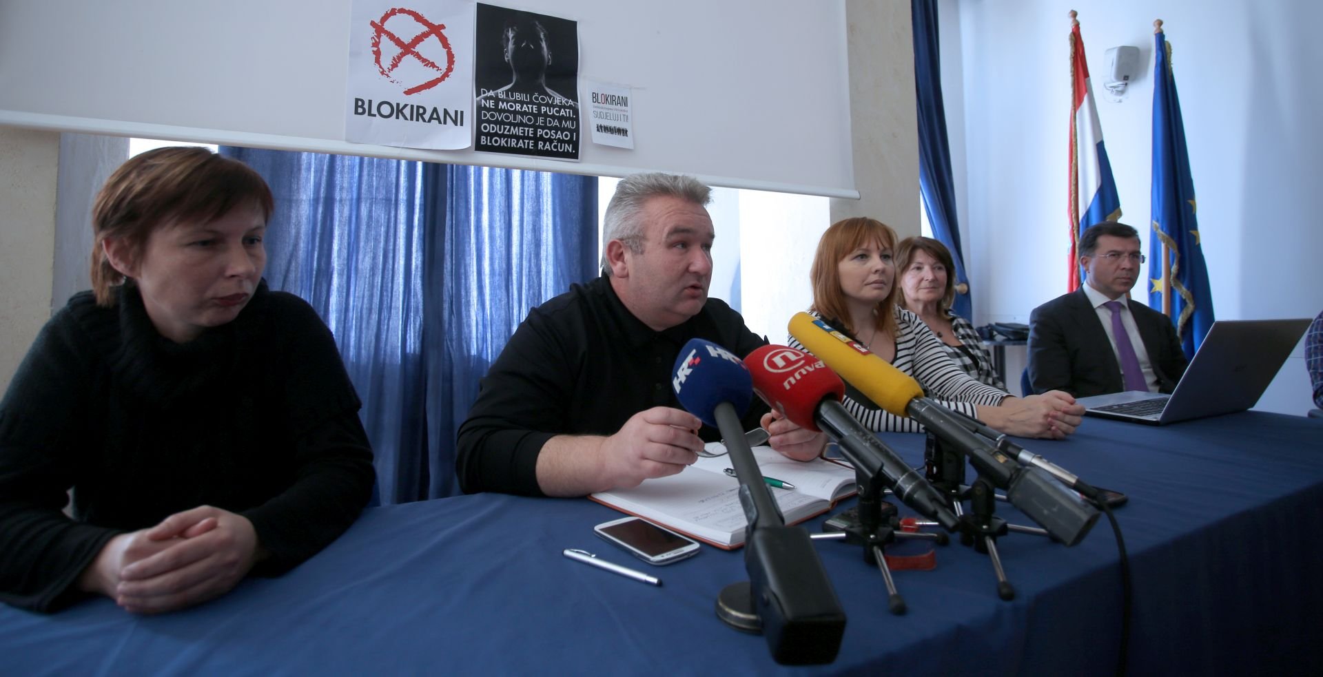 IZBORI 2015. Blokirani najavili da će s HDZ-om pokrenuti promjenu Ovršnog zakona; pozvali birače na potporu