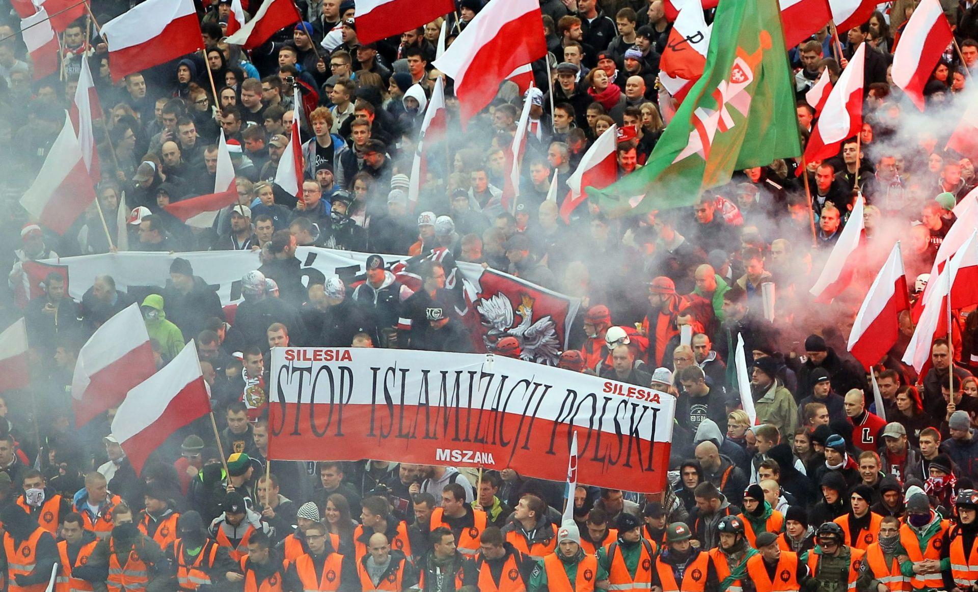 VIDEO: Veliki prosvjedi u Varšavi na poziv krajnje desnice