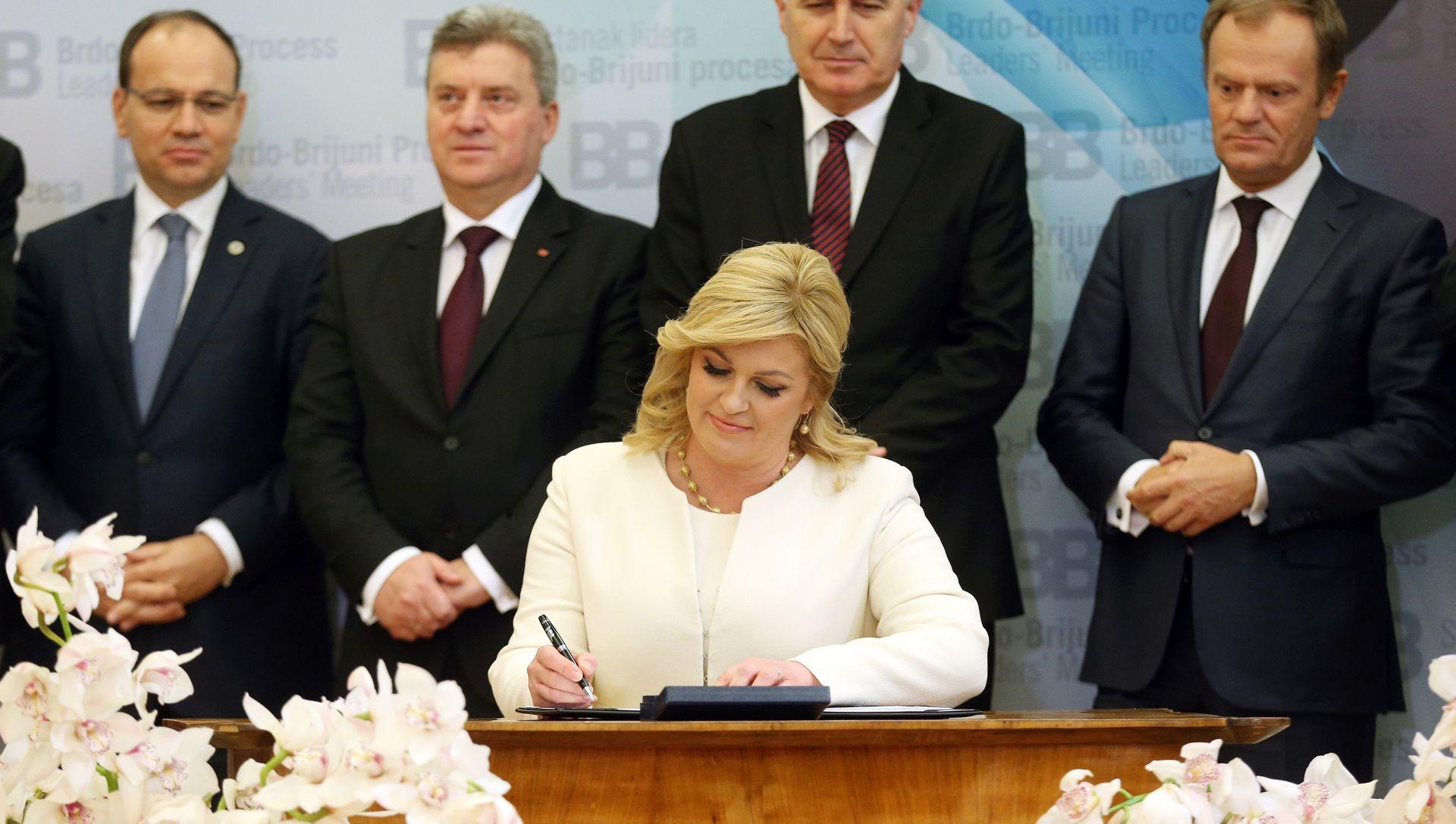 Grabar-Kitarović: Vjerujem kako smo se upravo obvezali ostvariti stratešku viziju Europe koja nije potpuna bez jugoistočne Europe