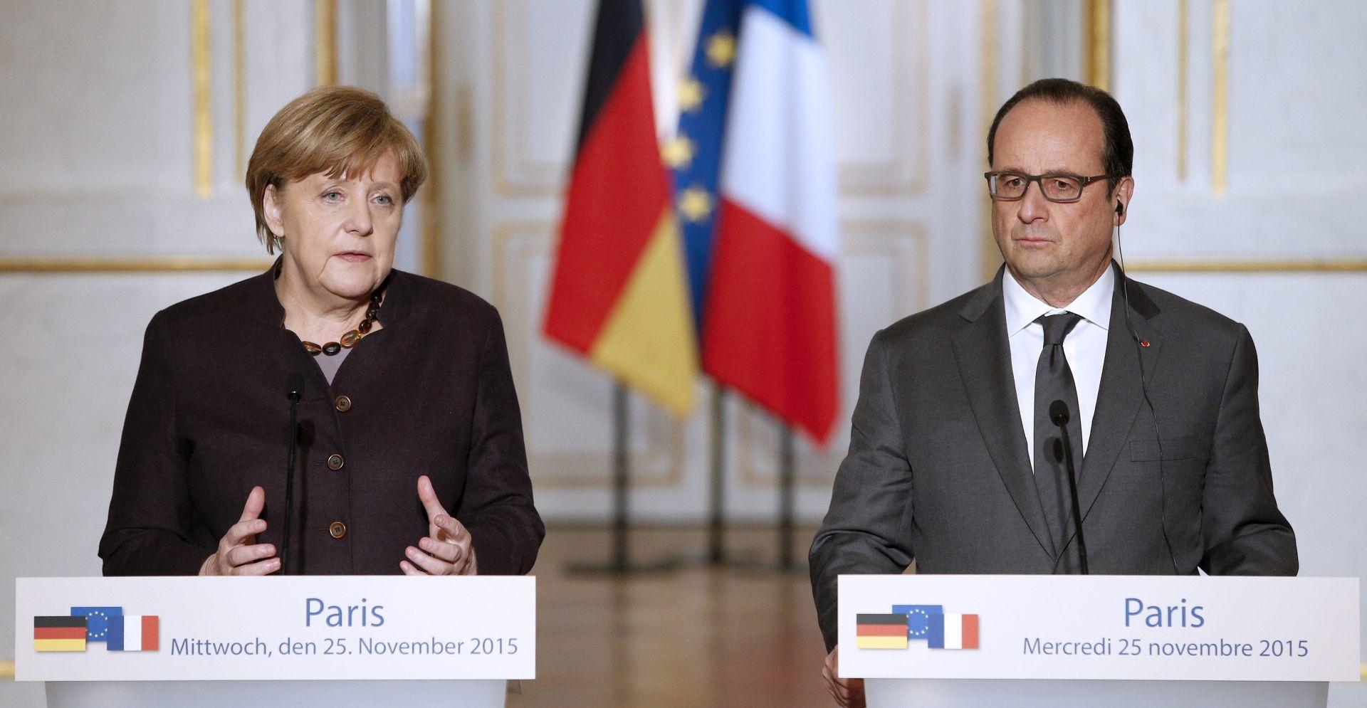 Merkel obećala brzu akciju protiv terorizma kao odgovor Hollandeu