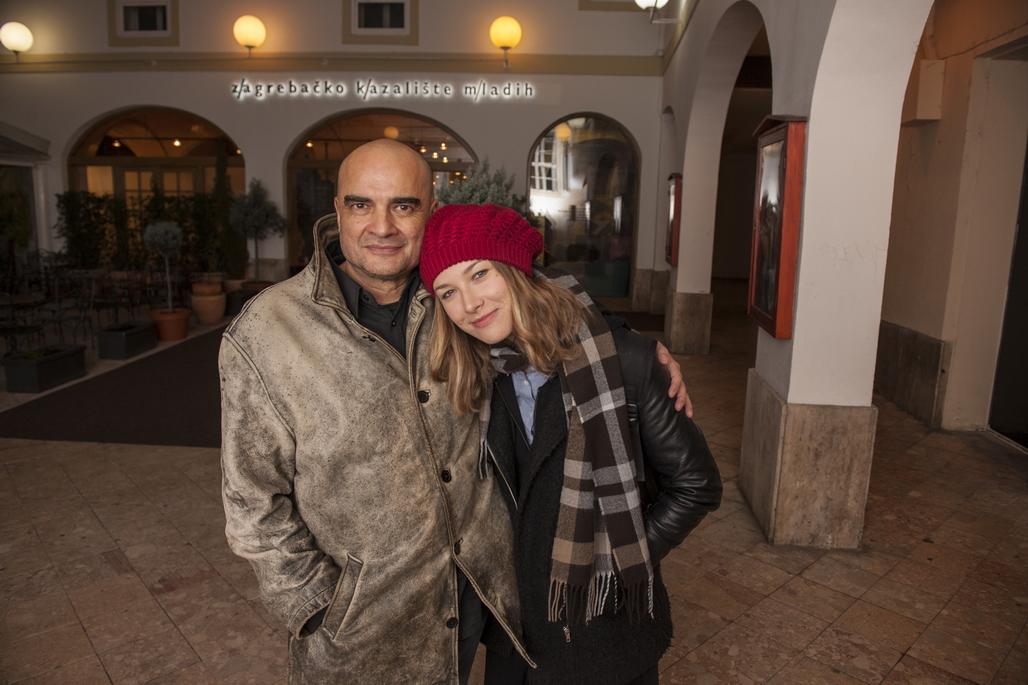 Glumci Milivoj Beader i Dajana Čuljak