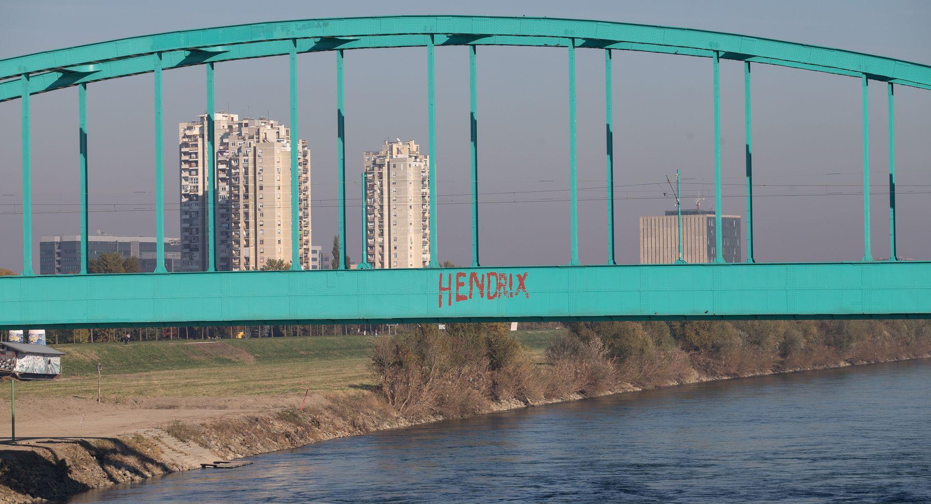 """SIMBOL URBANE POP-KULTURE ZAGREBA """"Zeleni most"""" postaje """"Hendrixov most"""""""