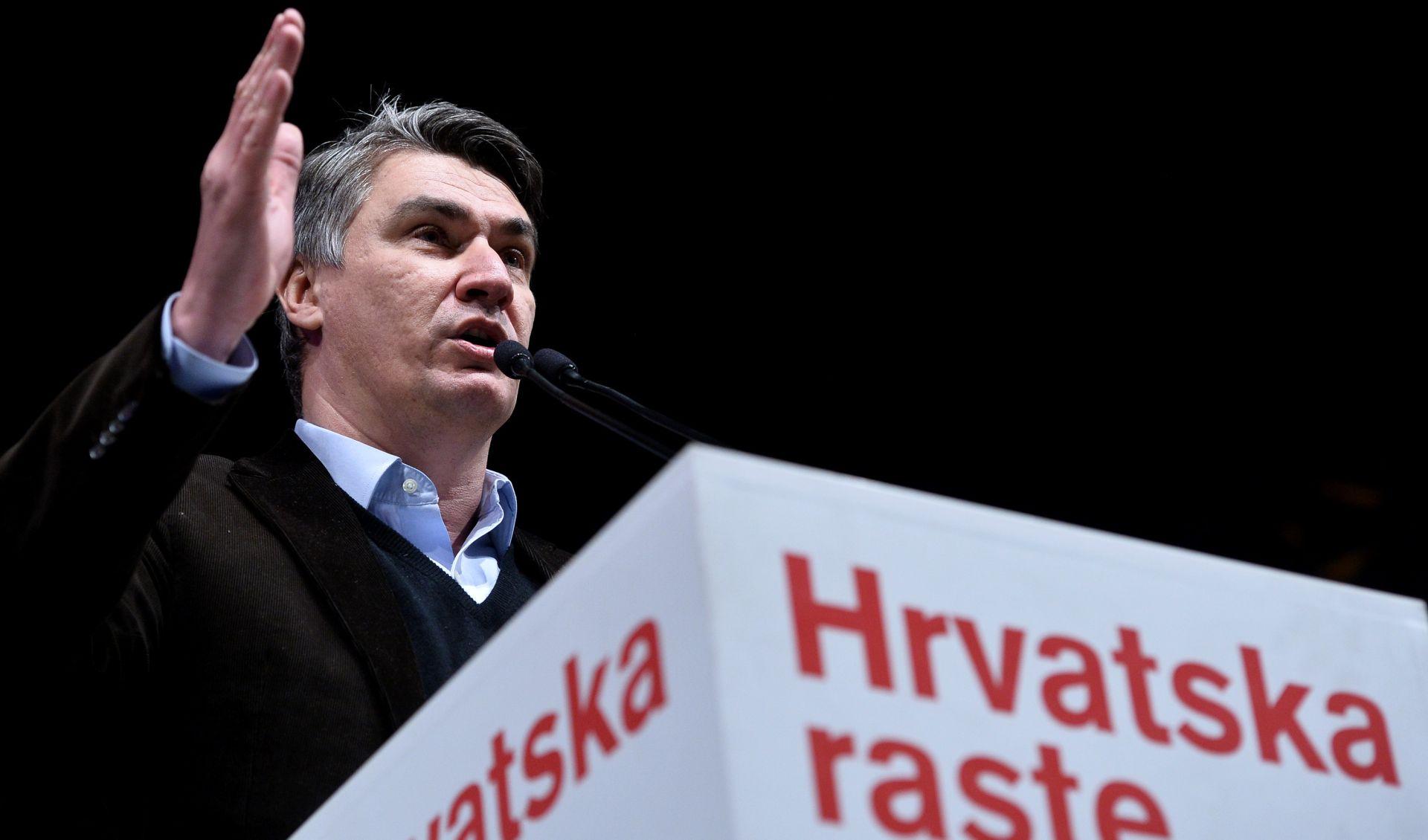 """IZBORI 2015. Milanović u Zagrebu: """"Mi smo protiv ugnjetača i njihovih pomagača"""""""