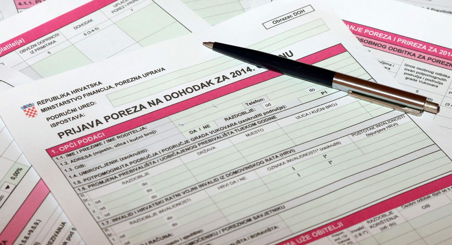 Porezna uprava: Obrađeno 97 posto godišnjih prijava poreza na dohodak; najveći dohodak lani 7,7 milijuna kuna