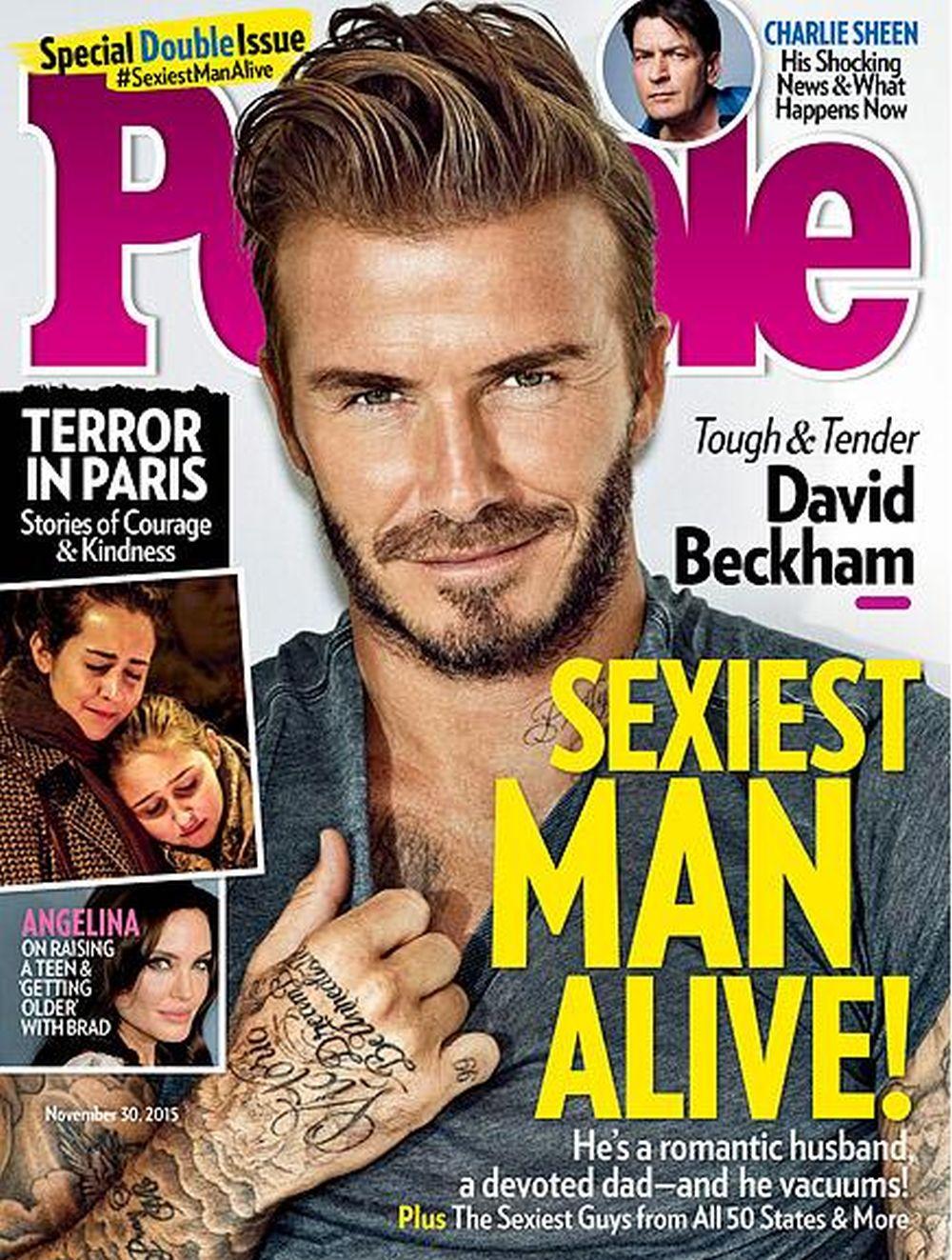 IZABRAO MAGAZIN PEOPLE David Beckham najseksi muškarac svijeta