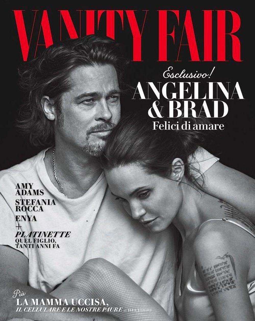 JEDNOSTAVNOST Brad Pitt i Angelina Jolie zajedno na naslovnici Vanity Faira Italia