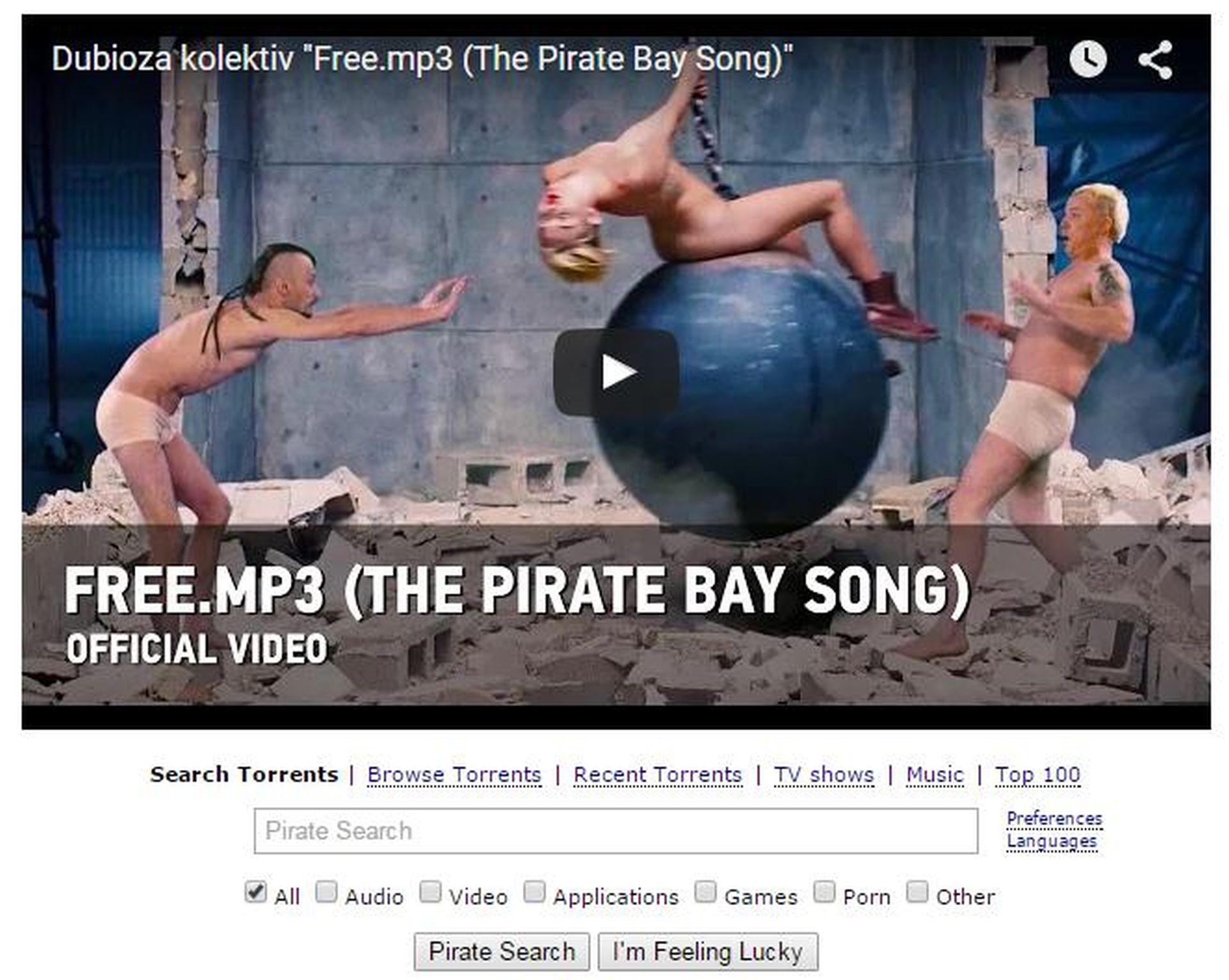 VIDEO: FREE.MP3 NA POČETNOJ STRANICI PIRATE BAYJA Dubioza kolektiv novom pjesmom osvaja svijet