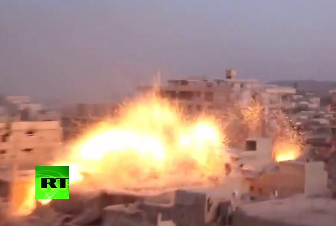 VIDEO: Pogođeni ciljevi u predgrađu Damaska
